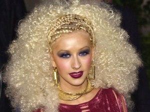 christina aguilera afro
