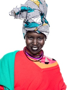 Alek Wek in UCB spring/summer campaign 2013 Photo:UCB tumblr.com