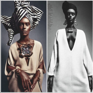 African Queen Ondria Hardin - black model not required. Thanks! Photo: Numero Magazine via necolebitchie.com