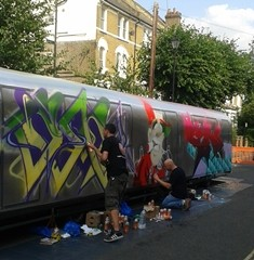 Street Artists still hard at work... http://www.urbanart.co.uk
