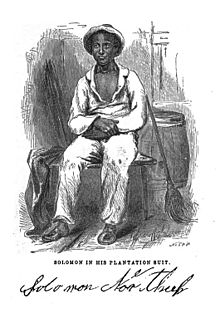 Illustration of Solomon Northup: son of a freed slave, born free, captured and sold into slavery for 12 years. Photo credit: Wikipedia