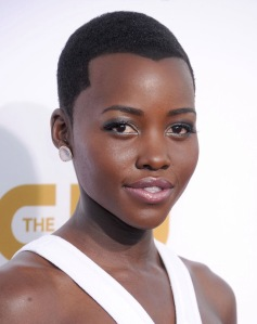 New girl on the block: Lupita Nyong'o is up for her first Oscar -- 12 Years A Slave Photo credit: Google
