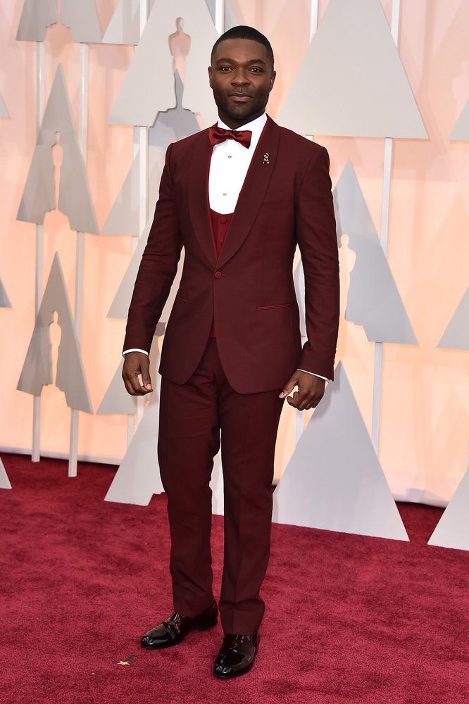 Man in red: David Oyelowo played Martin Luther King in Selma (Google Images)
