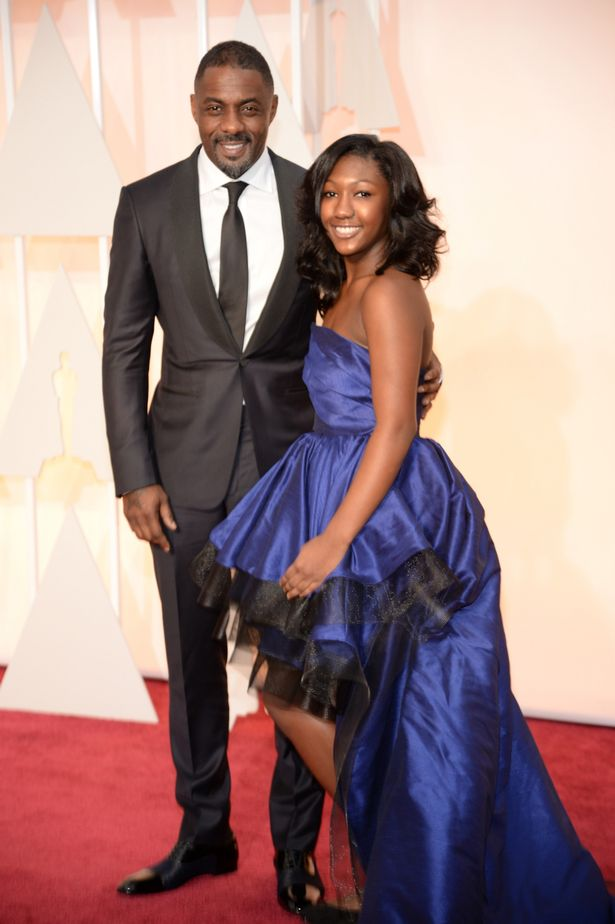 Idris Elba at The Oscars 2015 with his daughter Isan  (mirror.co.uk)
