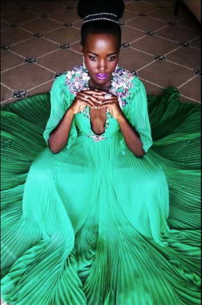 Lupita Nyong'o Cannes Film Festival green gucci dress