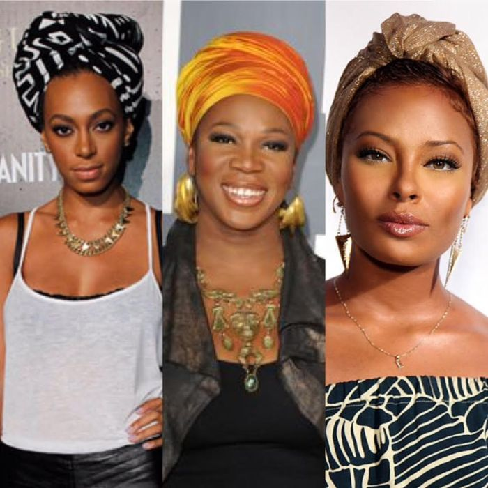 Celebrities wrapping it up! Solange, India Arie & Eva