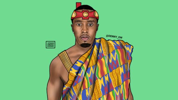 puff daddy, African print, Ghana art, African art