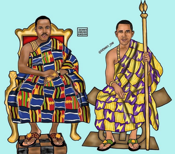 Obama Africa, Martin Luther king, men in African print