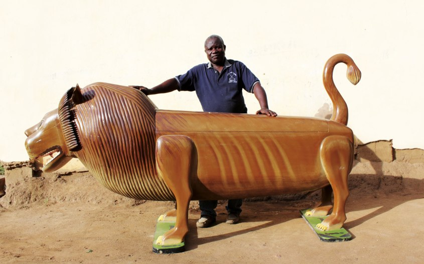 bespoke coffins, african coffin makers, hand made coffins