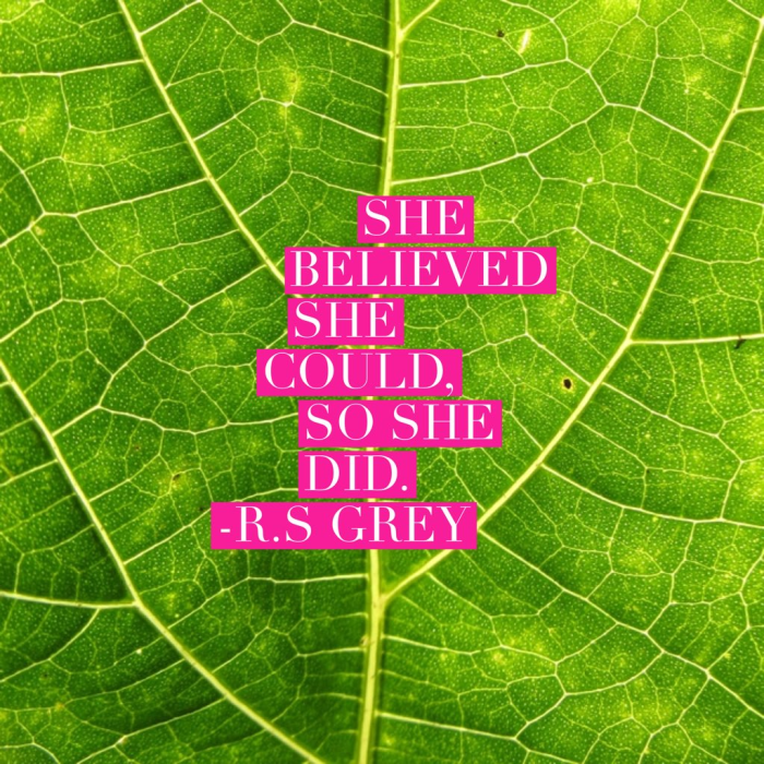 quote - she believed