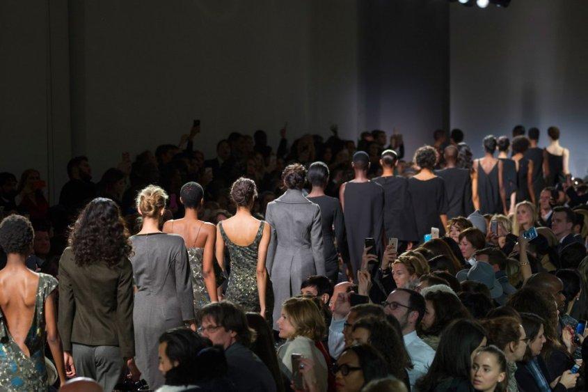 Zac posen New York fashion week 2016, black models, haute coture, high fashion