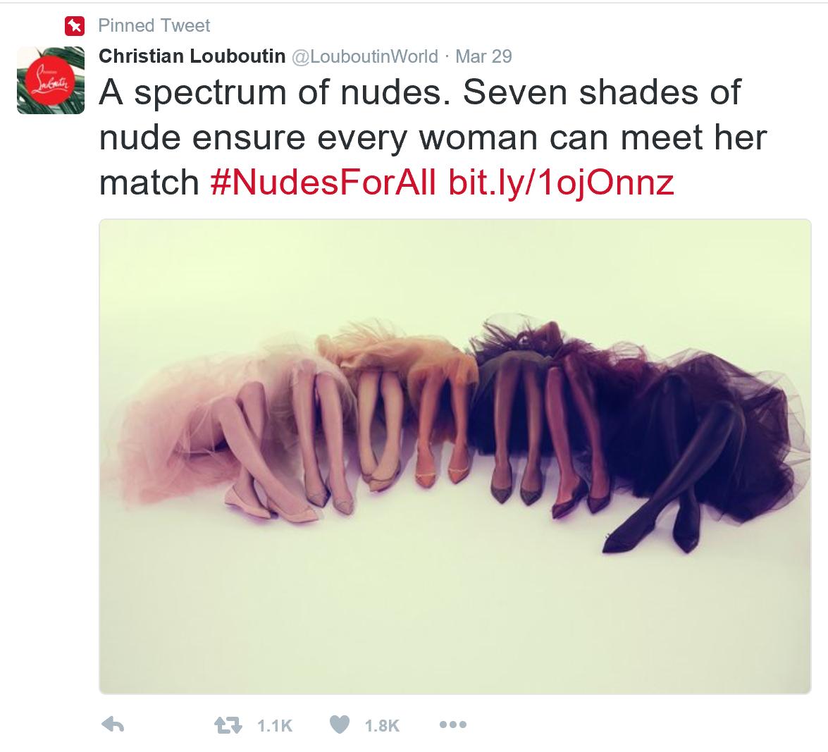 Louboutin nudes tweet