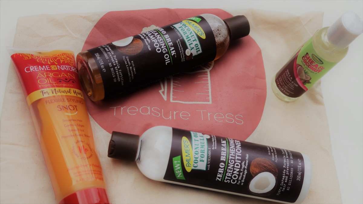 INTERVIEW: Treasure Tress - product box for Kinky Curly Hair