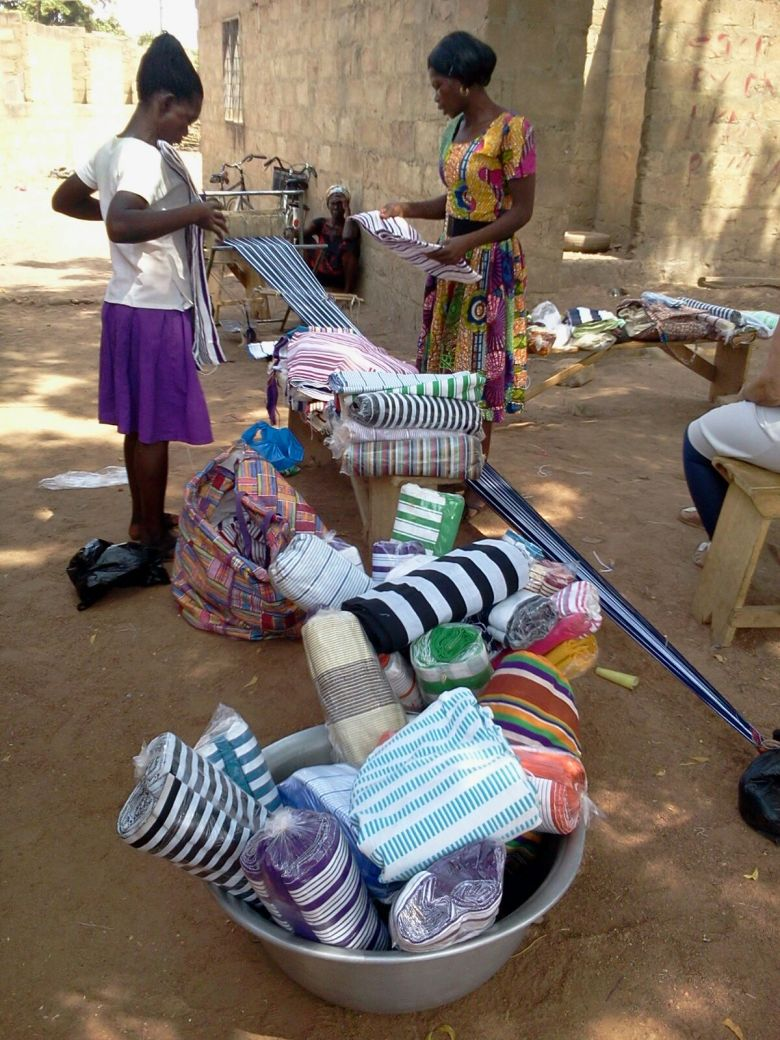 ladies at work kente
