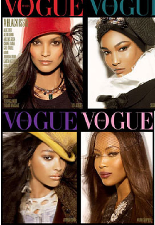 black models, vogue magazine, fashion, European Fashion