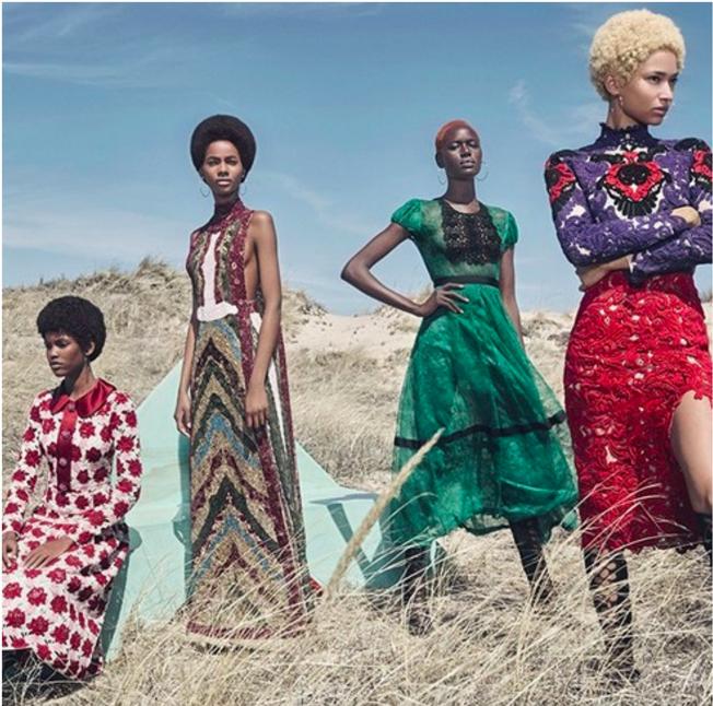 w magazine afro shot