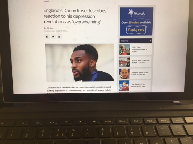 danny rose desprssion admission