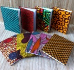African print fabric notebooks